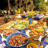 Patio Feast Royalty Free Stock Photos