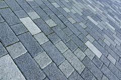 Patio Floor Or Pavement Made From Concrete Brick Bloks Backgroun Stock Image