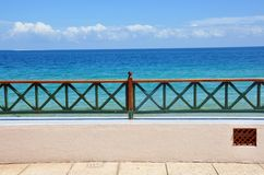 Patio frente al mar Foto de archivo libre de regalías