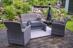 Patio with furnishings Royalty Free Stock Photo