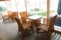 Patio furniture Royalty Free Stock Photo