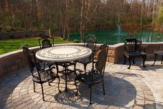 Patio furniture backyard Royalty Free Stock Image
