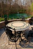 Patio furniture backyard Royalty Free Stock Photos