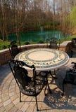 Patio furniture backyard royalty free stock photos