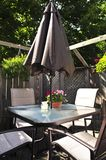 Patio furniture on a deck royalty free stock image