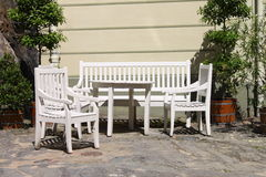 Patio furniture outdoor Royalty Free Stock Images
