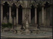 Patio gótico Imágenes de archivo libres de regalías