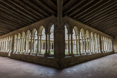 Patio with Gallery of Monastery in saint-Emilion Stock Images