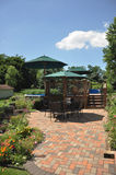 Patio and Garden. View of the patio and garden with pool Stock Images