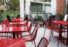 Patio garden furniture. Backyard, patio and garden furniture in an Italian hotel Royalty Free Stock Photography