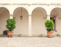 Patio in Gardens of Villa d'Este Royalty Free Stock Photography