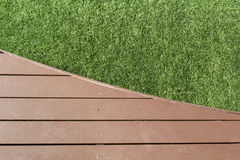 Patio and grass Royalty Free Stock Images