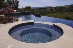 Patio hot tub stock photos