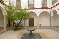 Patio in house in Cordoba Royalty Free Stock Image