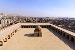 Patio Ibn Tulun Foto de archivo libre de regalías