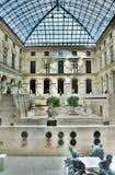 Patio inside Louvre, Paris, France royalty free stock image