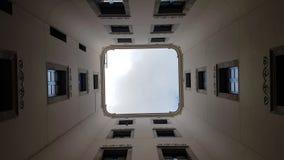 Arquitecture in Barcelona. Patio interior de una casa en Barcelona Stock Photography