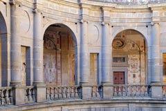 Patio interno de FarneseThe del chalet de la forma circular Fotografía de archivo libre de regalías