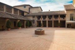 Patio interno del castillo Parma Italia de Felino fotos de archivo