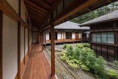 Patio interno en el chalet imperial de Tamozawa en Nikko Imagen de archivo