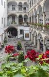 Patio italiano en Lviv, Ucrania Fotos de archivo libres de regalías