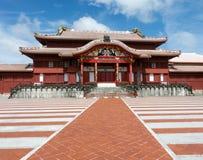 Patio japonés del castillo foto de archivo