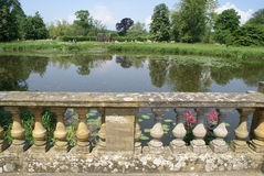 Patio at a lakeside Royalty Free Stock Image