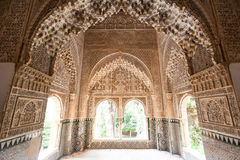 Patio of the Lions room detail from the Alhambra Royalty Free Stock Image