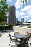 Patio, Los Angeles du centre, Etats-Unis Photos stock