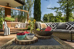 Patio in luxurious style idea Stock Image