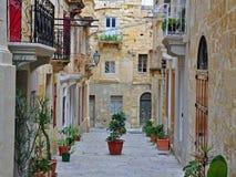 Patio maltese tradizionale Immagine Stock