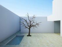Patio moderne. Photo libre de droits