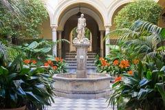 Patio He musée des beaux-arts Images stock