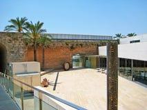 Patio at museum Es Baluard Museu d'Art Modern i Contemporani de Palma Stock Photo