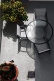 patio na plaży obrazy royalty free
