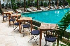 Patio near pool royalty free stock image