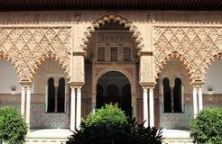 Patio nell'alcazar reale di Sevilla Immagini Stock Libere da Diritti