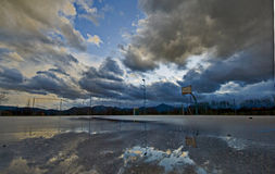 Patio nublado Fotografía de archivo libre de regalías