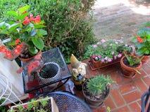 Patio ogród zdjęcie stock