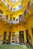 Patio of an old multistory building in Jewish quarter of Pest, Budapest - Hungary Royalty Free Stock Photography