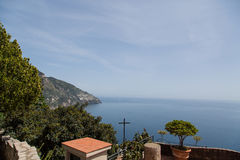 Patio Overlooking Amalfi Coast Royalty Free Stock Image