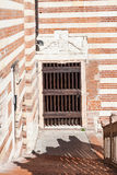 Patio Palazzo della Ragione w Verona mieście Zdjęcie Royalty Free