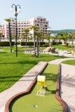 Patio para el mini golf en Sunny Beach en Bulgaria Imágenes de archivo libres de regalías