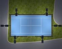 Patio para el tenis Visión superior representación 3d Fotos de archivo libres de regalías