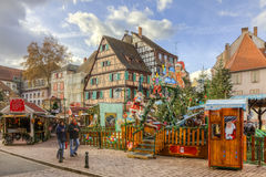 Patio para los niños en Colmar Fotos de archivo libres de regalías