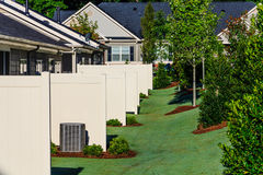 Patio Partitions on New Townhomes Royalty Free Stock Photography