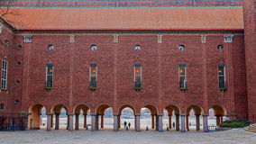 Patio Pasillo en Estocolmo, Suecia Imagenes de archivo