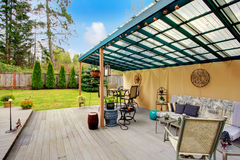 Patio pergola design Stock Photos