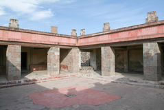 Patio of the Pillars in Teotihuacan on Mexico Royalty Free Stock Images