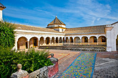 Patio Principal of La Casa De Pilatos, Seville In Spain. Stock Photo